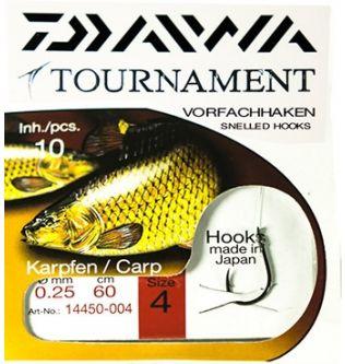 Готовый поводок Daiwa Tournament Сarp vorfachhaken Snelled Hook