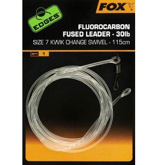 Флюорокарбоновый лидер с быстросъемником Fox Fluorocarbon Fused Leader - 115 cm