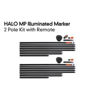 Комплект 2 Стаціонарних Маркерних Буїв з Пультом Fox Halo Illuminated Marker 2 Pole Kit Including Remote