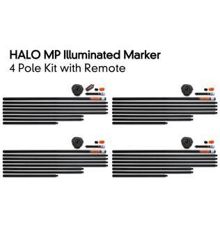 Комплект 4 Стаціонарних Маркерних Буїв з Пультом Fox Halo Illuminated Marker 4 Pole Kit Including Remote