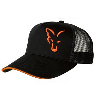 Fox Black & Orange Trucker Cap - Кепка летняя