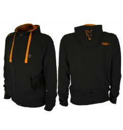 Fox Black Orange lightweight Zipped hoody Легкая Толстовка