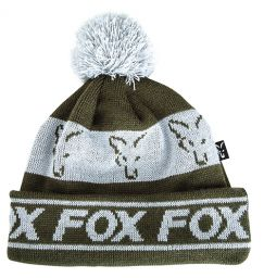 Шапка Fox Lined Bobble Hat Green Silver