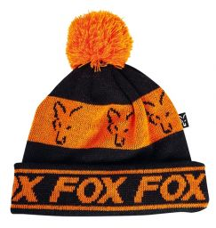 Шапка Fox Lined Bobble Hat Black Orange
